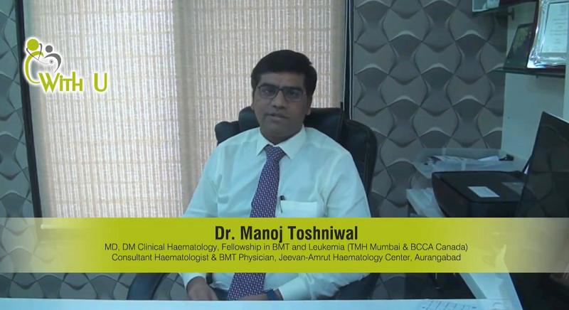 Dr. Manoj Toshniwal talking on Aplastic Anemia